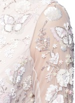 'Butterfly' embellished tulle gown