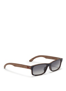 ISAIA Painted wood rectangular sunglasses
