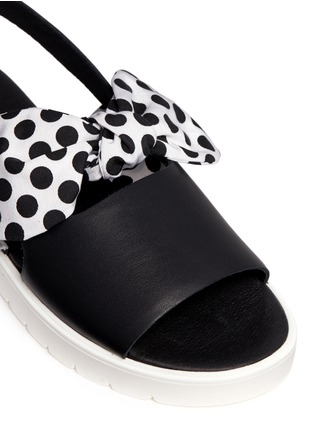 Detail View - Click To Enlarge - MOTHER OF PEARL - 'Ordell' spot bow leather sandals