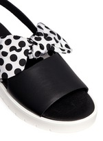 'Ordell' spot bow leather sandals