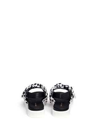 Back View - Click To Enlarge - MOTHER OF PEARL - 'Ordell' spot bow leather sandals