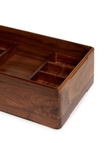 Walnut wood storage box