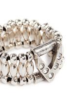 'VIWY V' crystal bead elastic ring