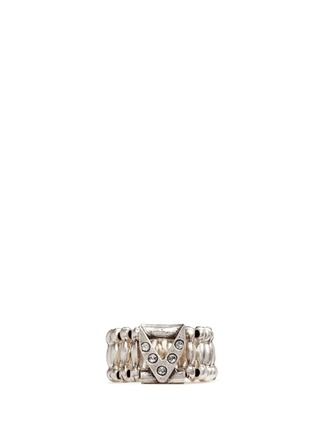 Main View - Click To Enlarge - Philippe Audibert - 'VIWY V' crystal bead elastic ring