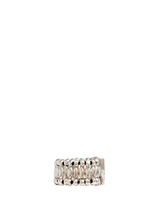 Figure View - Click To Enlarge - Philippe Audibert - 'VIWY V' crystal bead elastic ring