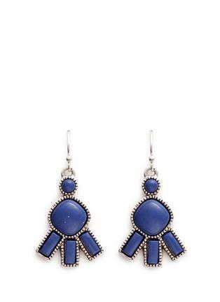 Main View - Click To Enlarge - Philippe Audibert - 'Lozzi' lapis stone earrings