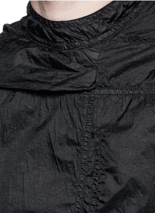 Detail View - Click To Enlarge - Rick Owens DRKSHDW - 'Spliced' ruffle hem crinkle nylon sleeveless top