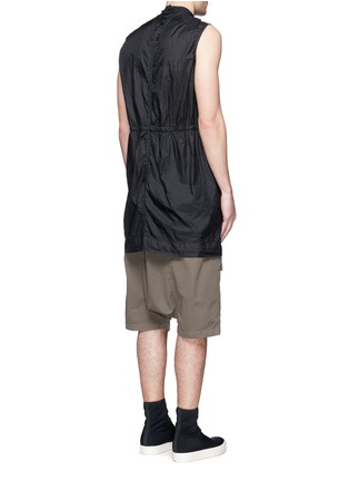 Back View - Click To Enlarge - Rick Owens DRKSHDW - 'Spliced' ruffle hem crinkle nylon sleeveless top