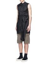 'Spliced' ruffle hem crinkle nylon sleeveless top