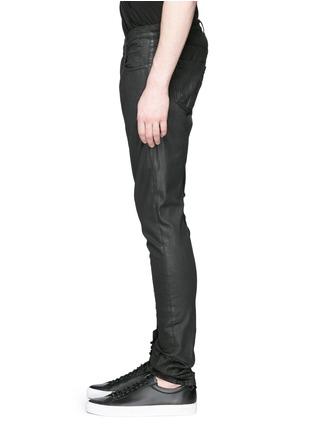 细节 - 点击放大 - DRKSHDW BY RICK OWENS - 涂层弹性棉料牛仔裤