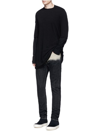 Figure View - Click To Enlarge - Rick Owens DRKSHDW - 'Torrence' dégradé straight leg jeans