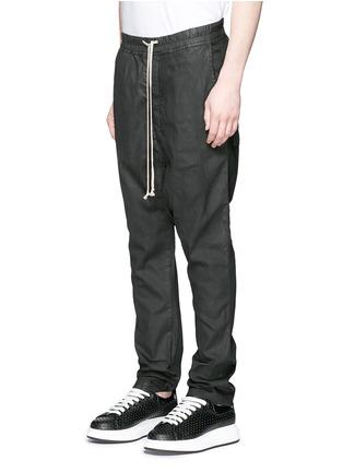 正面 -点击放大 - Rick Owens DRKSHDW - 涂层弹性棉料低裆牛仔裤