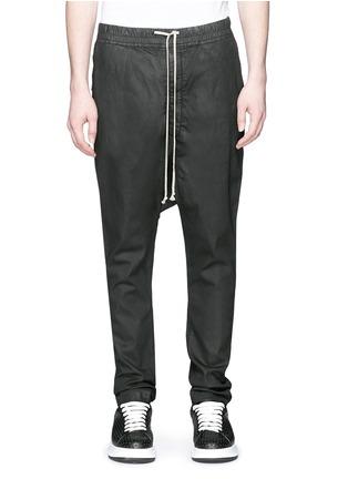 首图 - 点击放大 - Rick Owens DRKSHDW - 涂层弹性棉料低裆牛仔裤