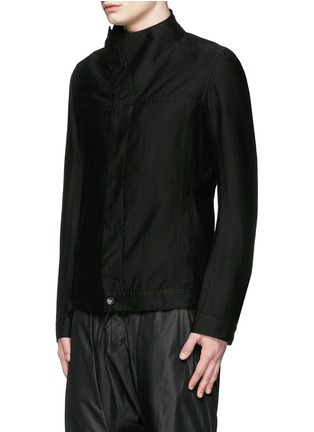 Front View - Click To Enlarge - Rick Owens DRKSHDW - 'Slave' cotton Cavalry twill jacket