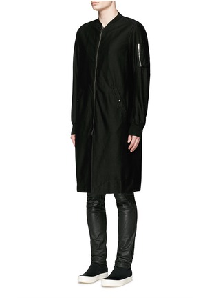 Front View - Click To Enlarge - Rick Owens DRKSHDW - 'Flight' bomber trench coat