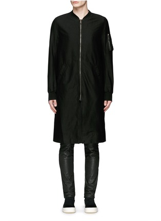 Main View - Click To Enlarge - Rick Owens DRKSHDW - 'Flight' bomber trench coat