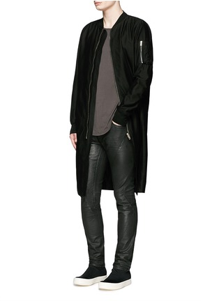 Figure View - Click To Enlarge - Rick Owens DRKSHDW - 'Flight' bomber trench coat