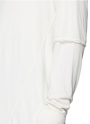 Detail View - Click To Enlarge - Rick Owens DRKSHDW - 'Hustler' double layer long sleeve T-shirt