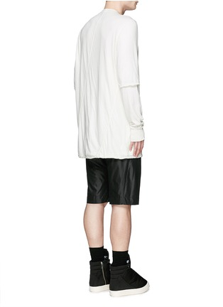 Back View - Click To Enlarge - Rick Owens DRKSHDW - 'Hustler' double layer long sleeve T-shirt