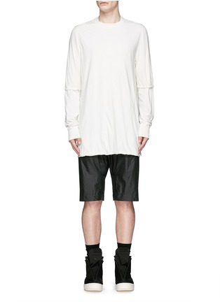 Main View - Click To Enlarge - Rick Owens DRKSHDW - 'Hustler' double layer long sleeve T-shirt