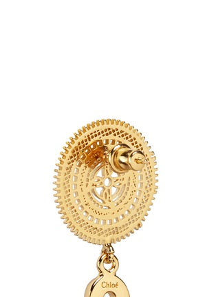 Detail View - Click To Enlarge - Chloé - 'Isaure' metal lacework earrings