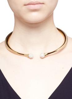 CHLOÉ DARCEY仿水晶黄铜项链