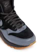 'Air Max 1 Mid Waterproof' suede sneakerboots