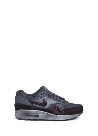 Main View - Click To Enlarge - Nike - 'Air Max 1 Premium' waxed leather textile sneakers