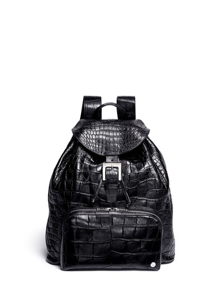 Main View - Click To Enlarge - Stalvey - 'Sun' alligator leather backpack