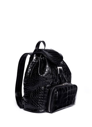 Figure View - Click To Enlarge - Stalvey - 'Sun' alligator leather backpack