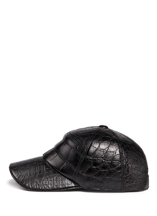 Figure View - Click To Enlarge - Stalvey - Alligator leather baseball cap