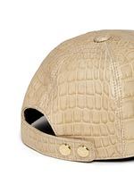 Alligator leather baseball cap