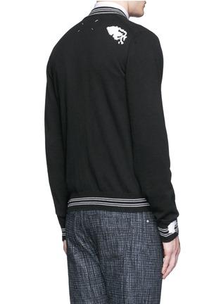 背面 - 点击放大 - MAISON MARGIELA - 破洞设计混棉针织外套