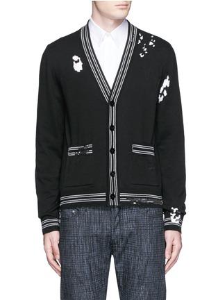 首图 - 点击放大 - MAISON MARGIELA - 破洞设计混棉针织外套