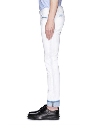 Detail View - Click To Enlarge - Maison Margiela - Chalk effect slim fit jeans