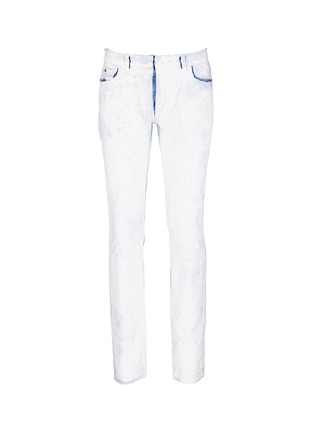 Main View - Click To Enlarge - Maison Margiela - Chalk effect slim fit jeans