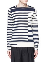 Mix stripe wool sweater