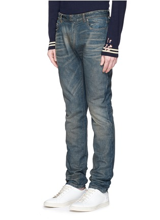 Front View - Click To Enlarge - Maison Margiela - Washed slim fit jeans