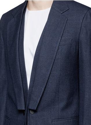 细节 - 点击放大 - MAISON MARGIELA - 单色西服外套连马甲