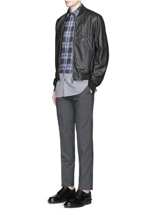 Figure View - Click To Enlarge - Maison Margiela - Mixed check linen-cotton shirt