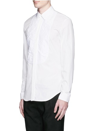 Front View - Click To Enlarge - Maison Margiela - Crinkled bib poplin shirt
