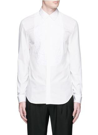 Main View - Click To Enlarge - Maison Margiela - Crinkled bib poplin shirt
