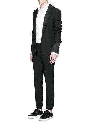 模特儿示范图 - 点击放大 - MAISON MARGIELA - 褶皱拼贴纯棉衬衫