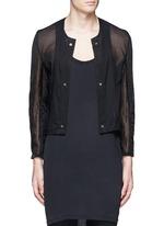 Detachable underlay sheer cropped jacket