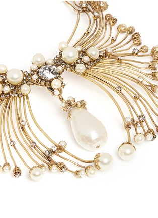 Detail View - Click To Enlarge - Erickson Beamon - Pearly Queen' glass pearl crystal pendant metal necklace