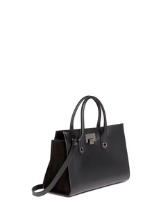 JIMMY CHOO'Riley' leather suede box tote