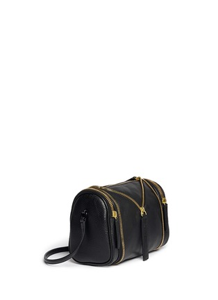 Front View - Click To Enlarge - Kara - 'Double date' convertible leather crossbody bag