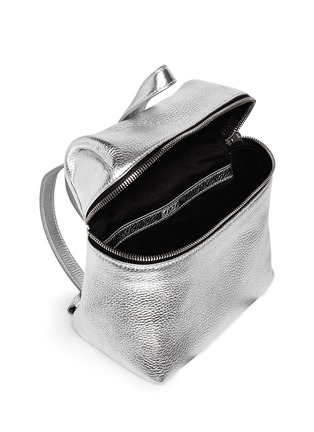 Detail View - Click To Enlarge - Kara - Metallic small leather backpack