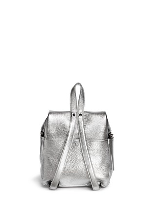 Back View - Click To Enlarge - Kara - Metallic small leather backpack
