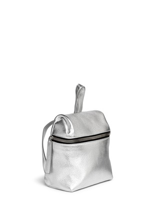 Front View - Click To Enlarge - Kara - Metallic small leather backpack